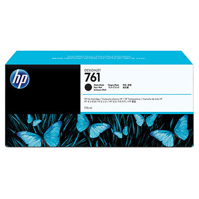 HP 761 Matte Black DesignJet Ink Cartridge 775ml
