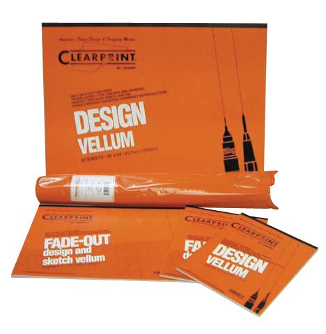 "Clearprint 1000HTS Series 18""x24"" Vellum Title Block/Border 100 sheet pack"