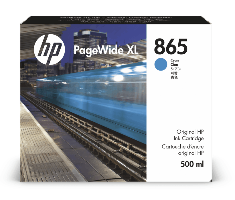 HP 865 PageWide XL 500-ml Ink Cartridge