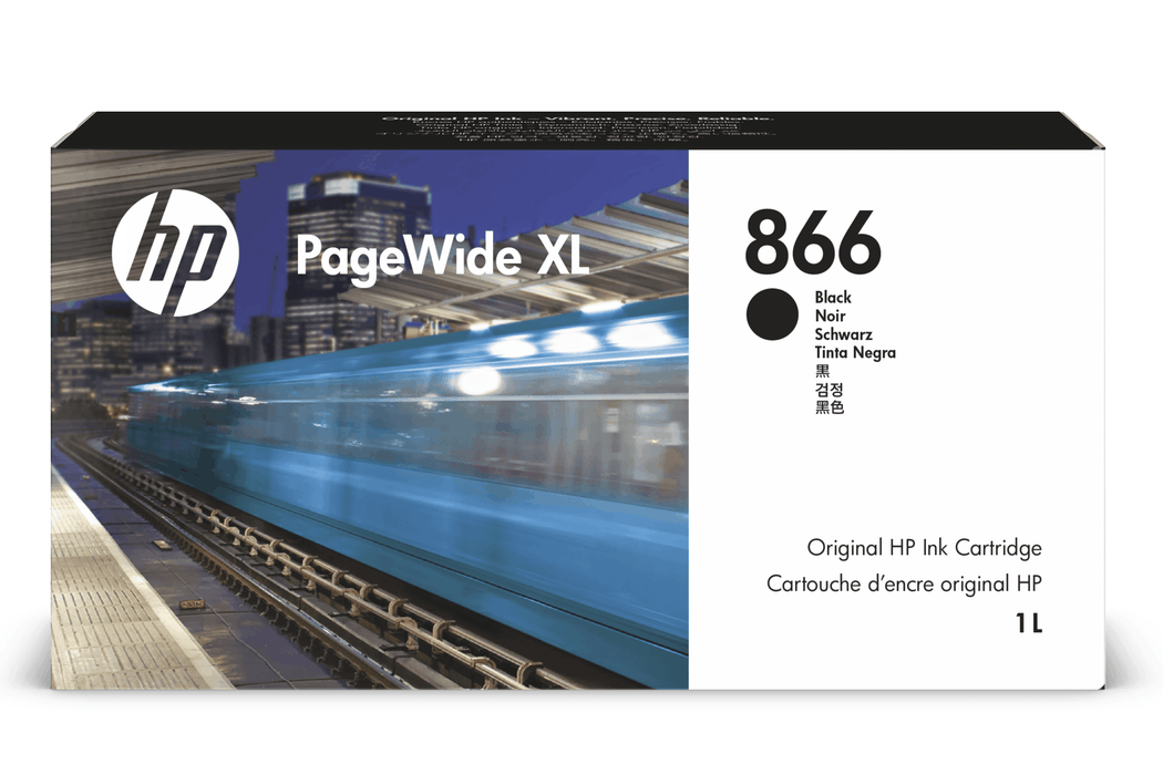 HP 866 PageWide XL 1-ltr Black Ink Cartridge