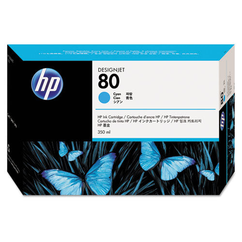 HP #80 Ink Cartridge for DesignJet 1000 Series 350ml