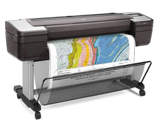 HP DesignJet T1700 44-in Single-Roll PostScript Printer