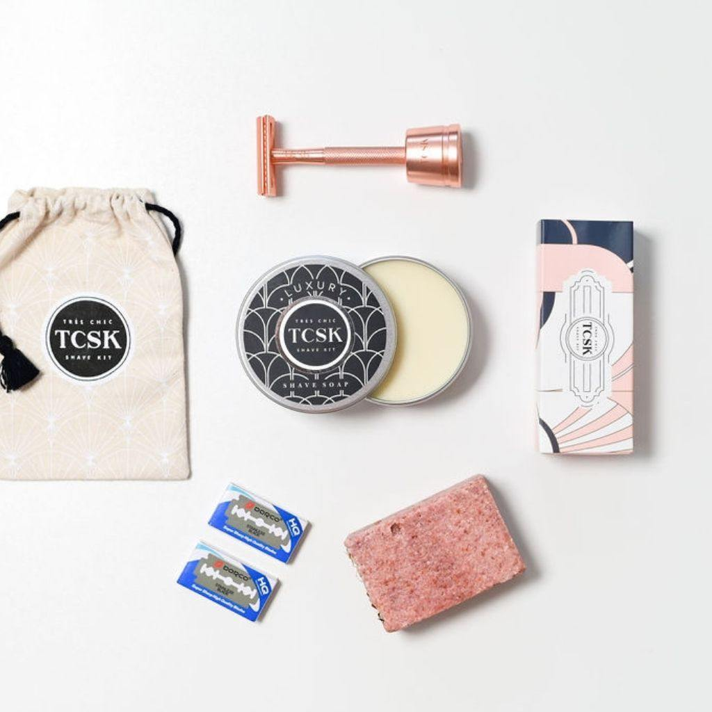 THE HEAVENLY ENGLISH ROSE DREAM KIT - Très Chic Shave Kit