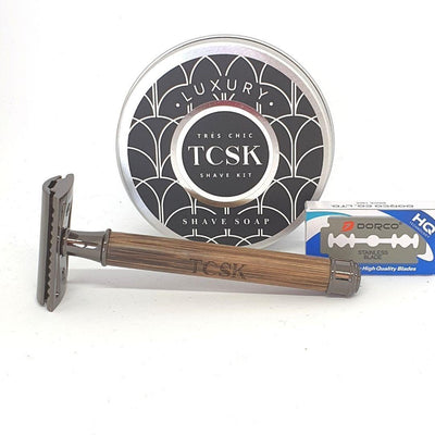 TCSK MEN SUPERIOR SHAVE KIT | includes 2 travel toiletry bags - Très Chic Shave Kit