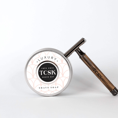 YOUR ECO-BAMBOO RAZOR STARTER KIT! - Très Chic Shave Kit