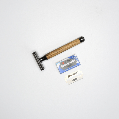 {bamboo safety razor] - Très Chic - Shave Kit