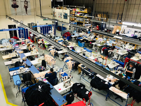 Fashion Enter, Factory in London where the samples for the nursing dress were made