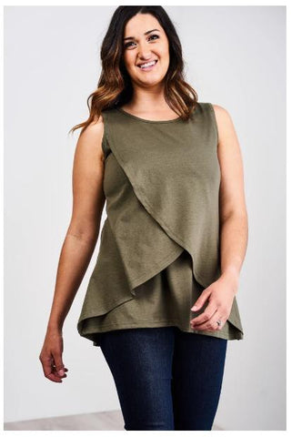 latched mama nursing tank