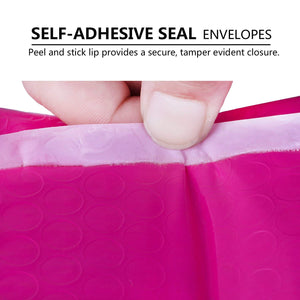 Wholesale Poly Bubble Mailers Padded Envelopes Shipping Bags Self Seal Pink - 500 Pack