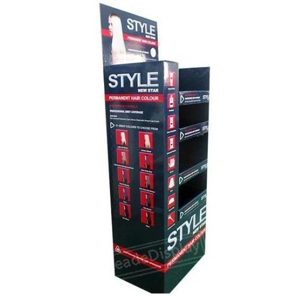 Hair Dyes Cardboard Pop Shelf Displays