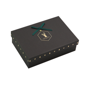 Black Gift Box With Gold Stamping Logo