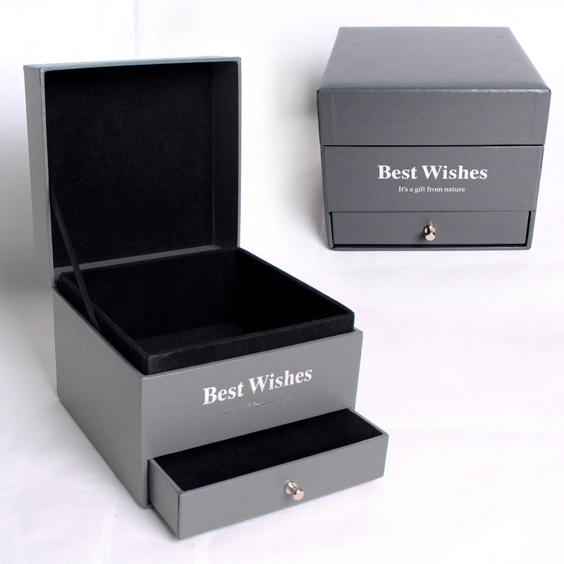 Custom Retail Double Drawer Jewelry Box Packaging