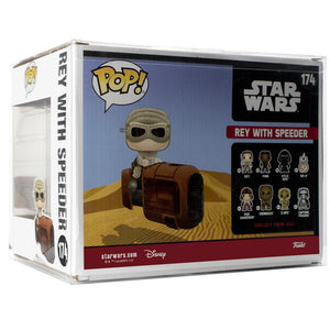 Pop Vinyl Protector - PPJoe Star Wars Rey With Speeder Pop Protector, Rock Solid Funko Vinyl Protection