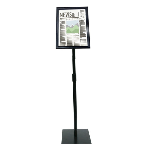 Sign Stand Fits for 11x17 Inches Poster, Heavy Square Metal Base, Color Black