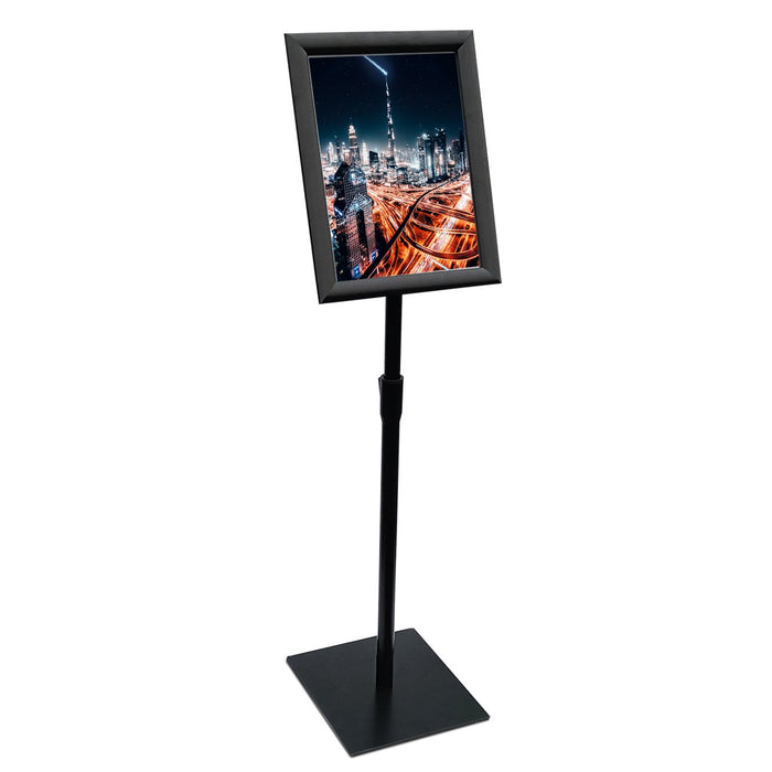 Sign Stand Fits for A3 size Poster, Heavy Square Metal Base, Color Black
