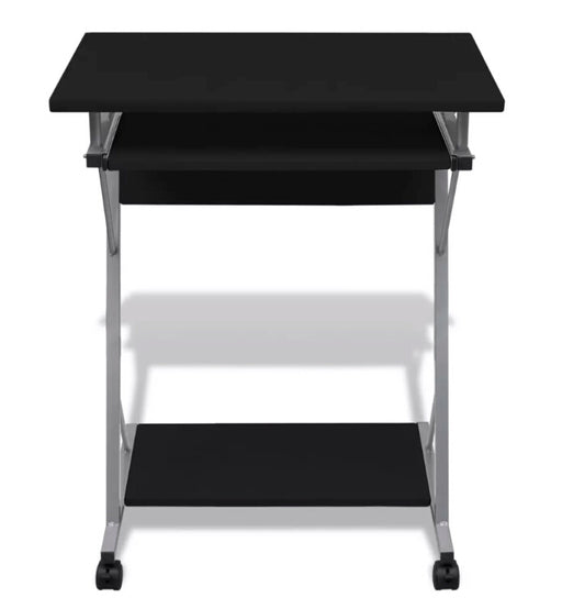Computer Desk Pull Out Tray Furniture Office Student Table Black  20051