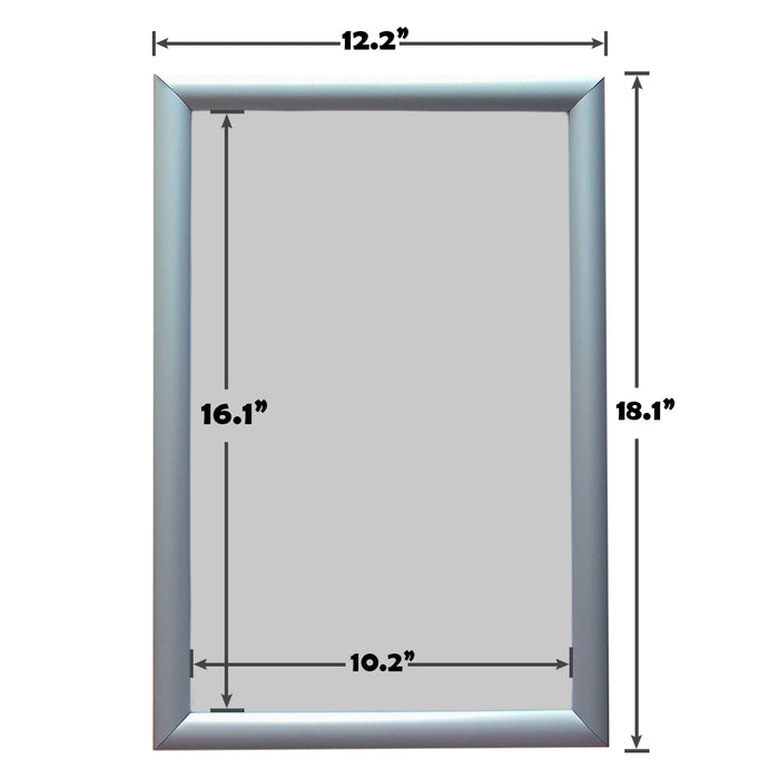 Aluminum Snap Frame for Poster 11 x 17 Inches, Front Open & Wall Mounted Style,Color Silver
