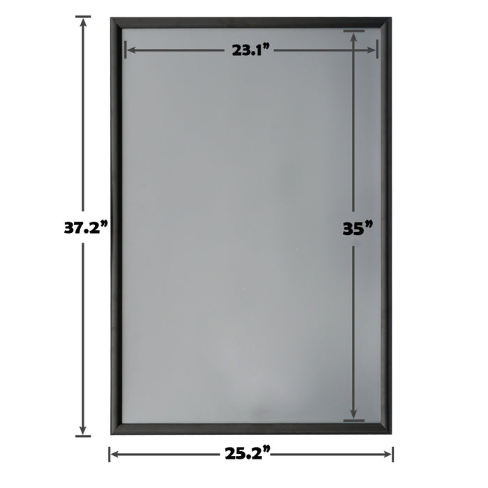 Aluminum Snap Frame for Poster 24 x 36 Inches, Front Open & Wall Mounted Style,Color Black