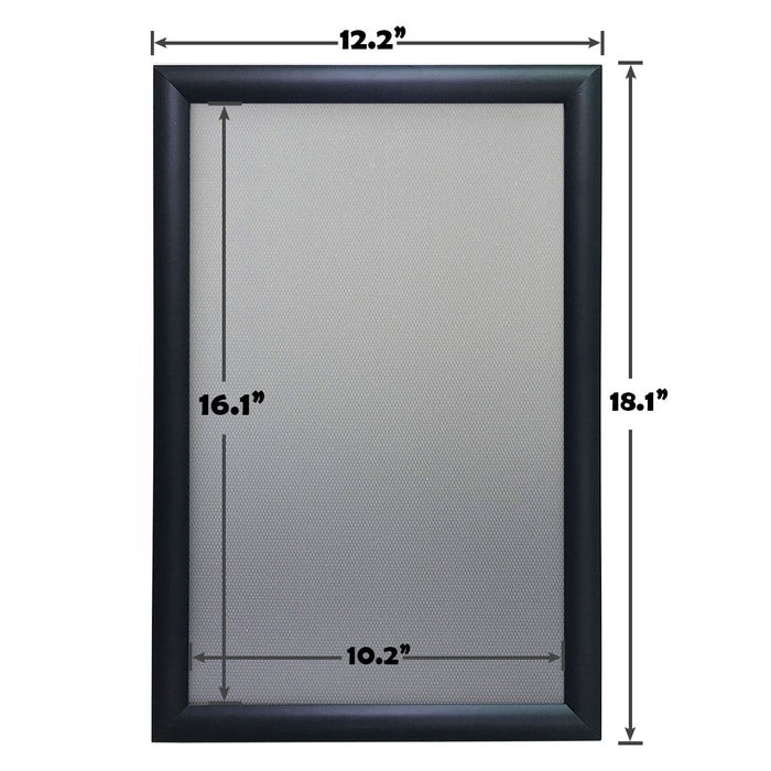 Aluminum Snap Frame for Poster 11 x 17 Inches, Front Open & Wall Mounted Style,Color Black