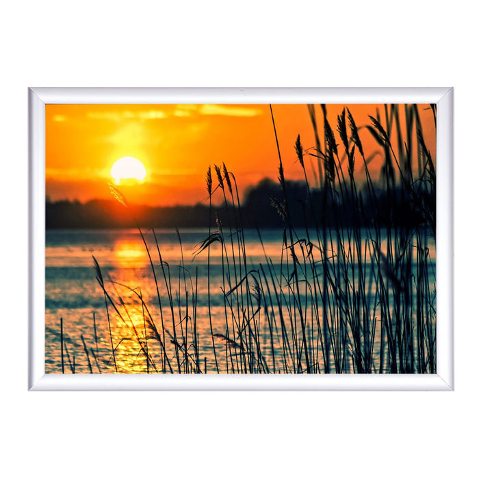 Aluminum Snap Frame for Poster 18 x 24 Inches, Color Silver