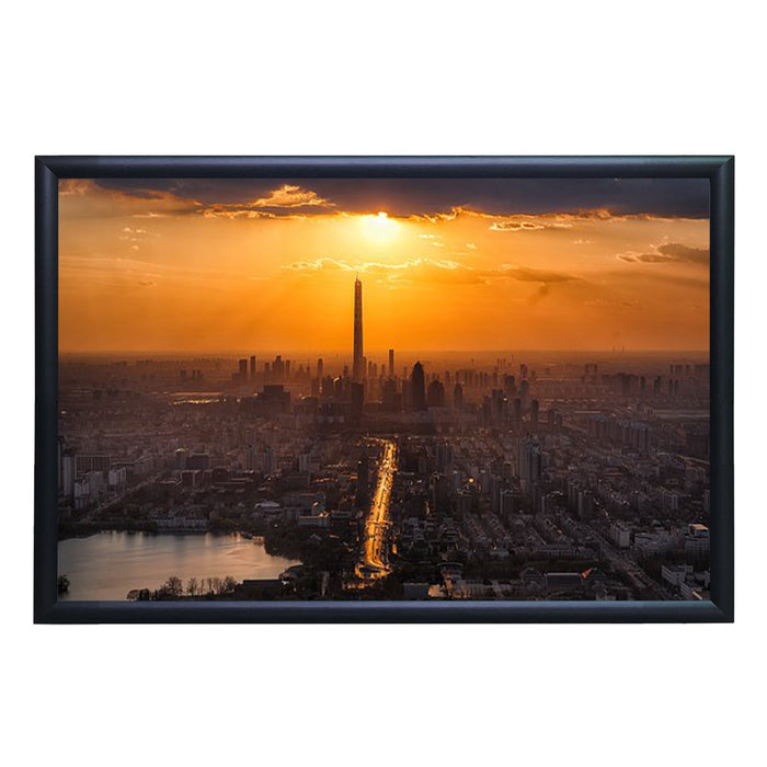 Aluminum Snap Frame for Poster 18 x 24 Inches, Front Open & Wall Mounted Style,Color Black