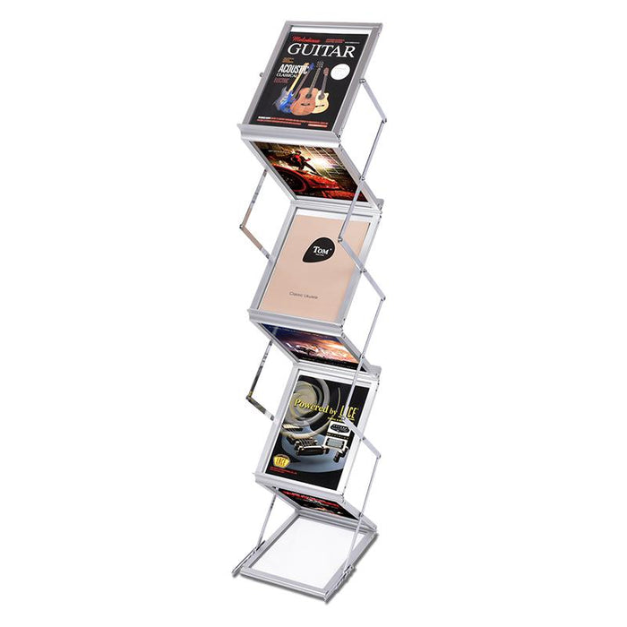 Aluminum Foldable Literature Rack, Carrying Case Included