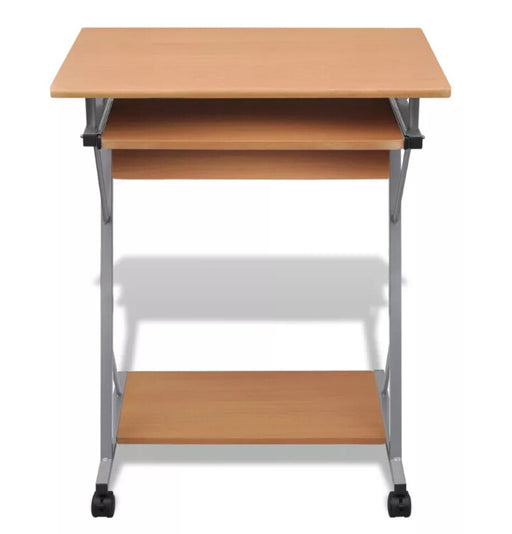 Computer Desk Pull Out Tray Brown Furniture Office Student Table  20052