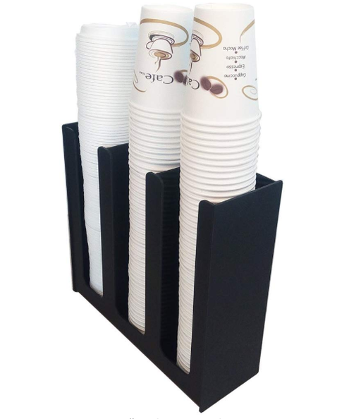 Cup & Lid Holder Organizer, 3 Compartments