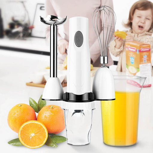 2 Blades Electric Food Blender 4 in 1 Mixer Kitchen Detachable Stainless Steel Hand Blenders Egg Beater Vegetable Food Grinder