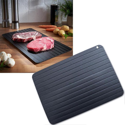 Fast Defrosting Tray Thaw Frozen Food Meat Fruit Quick Defrosting Plate Board 23x16.5x0.2CM dropship