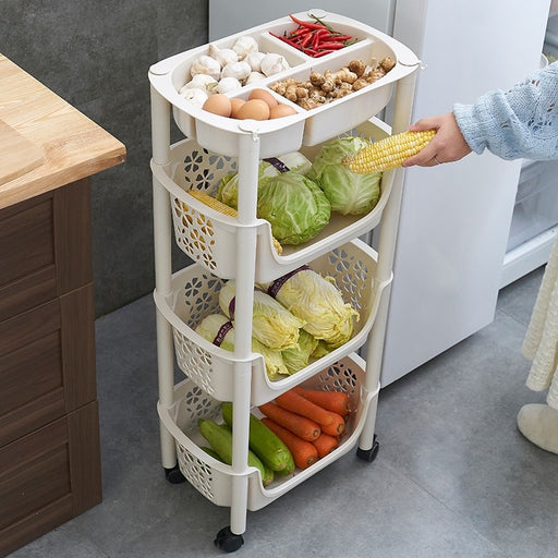 Kitchen Trolley 3 Layers Office Cart Rolling Storage Rack Shelf Workshop Trolley With Four Wheels Portable Tool Storage Cart