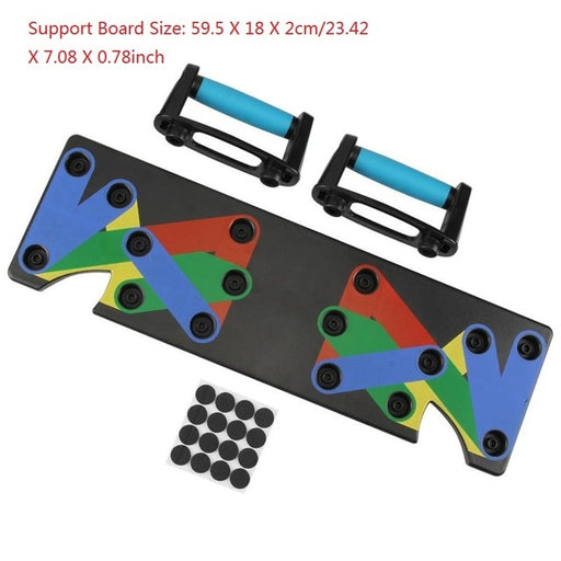 1 Set Push Up Rack Board 9 in 1 Body Building Board System Fitness Comprehensive Training Gym Body Training Drop Shipp Exercise