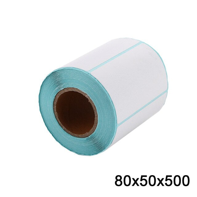 Thermal Sticker Paper Durable Universal Round Self-Adhesive Shop Scanner Thermal Label  Paper White Office Printer