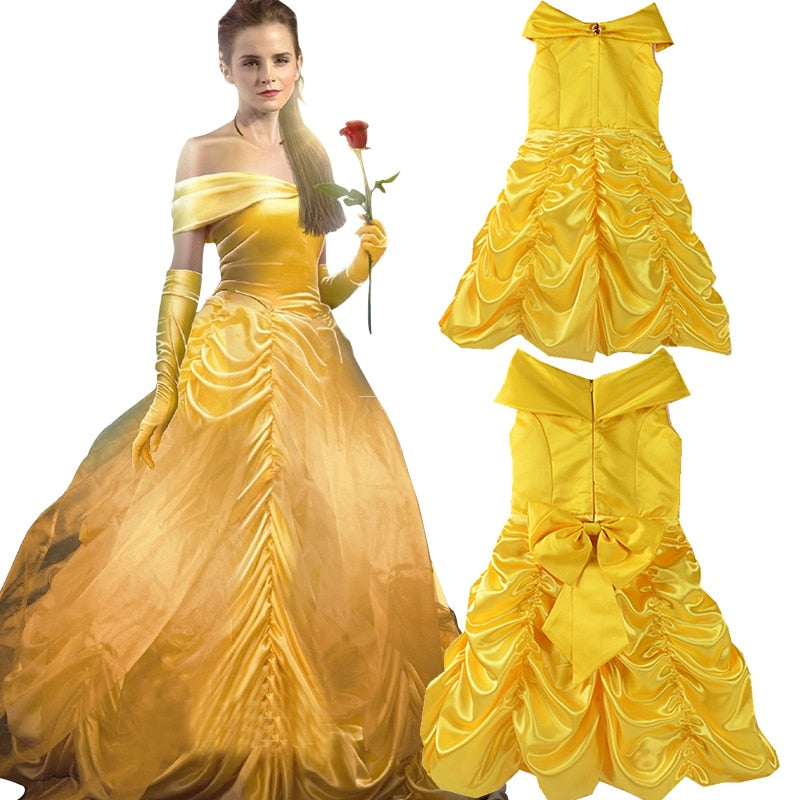Beauty and the Beauty Belle Kids Girl Princess Dress Party Costume  Halloween