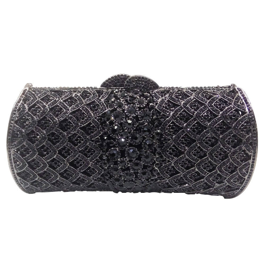 Black Crystal Clutch - Mirza By SMK