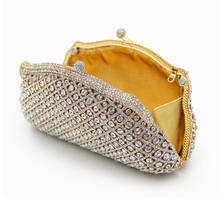 Gold Crystal Clutch - Mirza By SMK