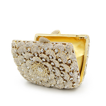 Gold Floral Crystal Clutch - Mirza By SMK