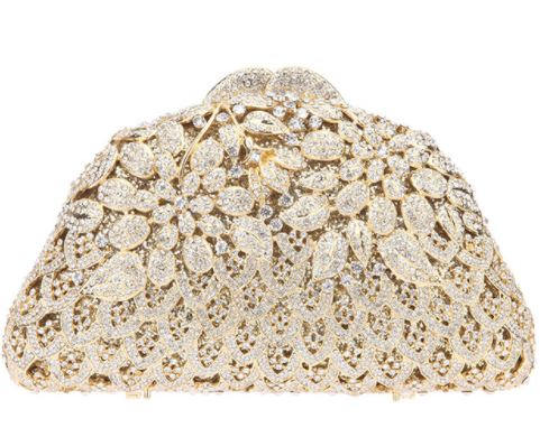Garden of Gold Crystal Clutch - Mirza By SMK