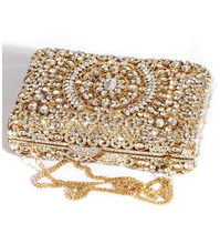 Gold Box Crystal Clutch - Mirza By SMK