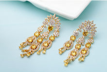 Gold & Yellow Drop Earrings - Mirza By SMK
