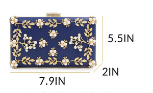 Navy Blue Trendy Clutch - Mirza By SMK