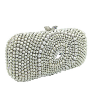 White Pearl Trendy Clutch - Mirza By SMK