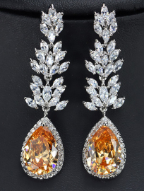Champagne Drop Earrings - Mirza By SMK