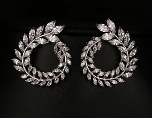 Silver Stud Earrings - Mirza By SMK