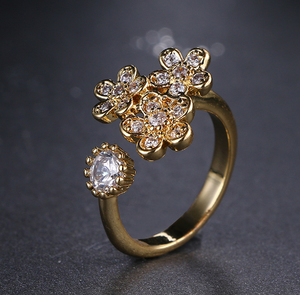 Gold Floral Ring - Mirza By SMK
