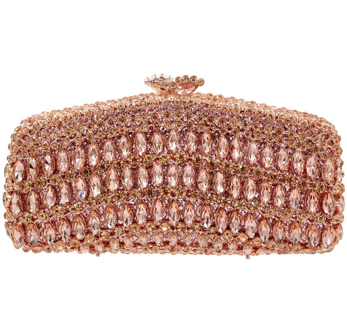 Rose Gold Crystal Clutch - Mirza By SMK