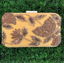Yellow Embroidered Clutch