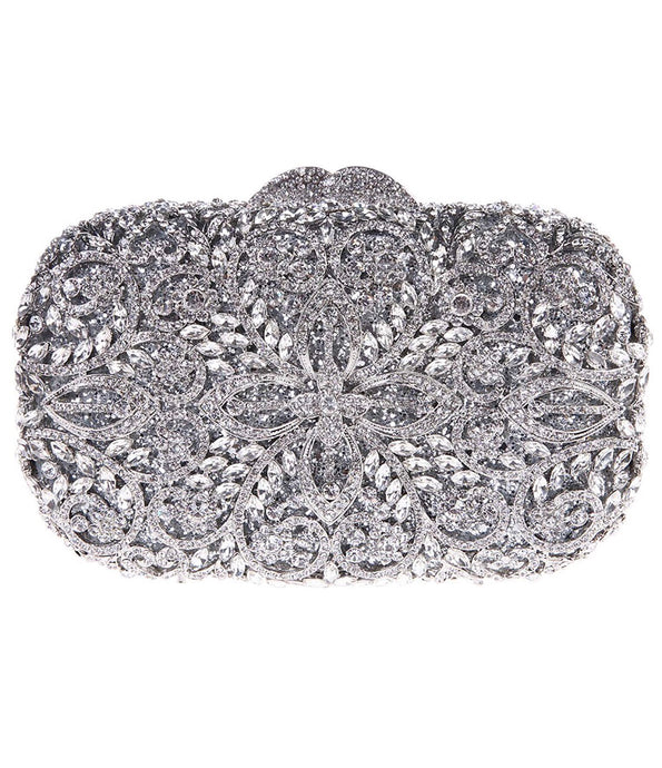 Silver Crystal Clutch - Mirza By SMK