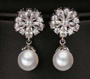 Pearl Drop Earrings - Mirza By SMK