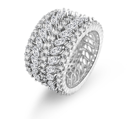 Silver Jeweled Ring - Mirza By SMK